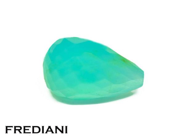 Pampille en opale bleue briolette naturelle