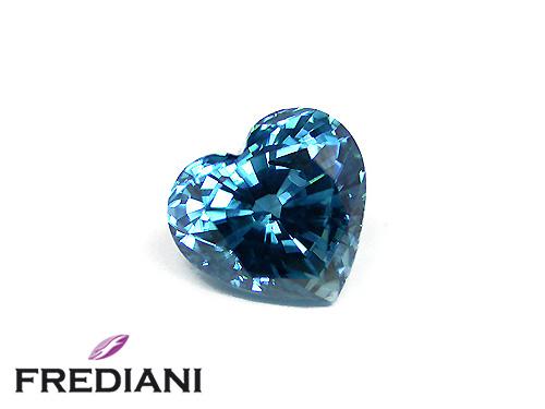 Zircon bleu coeur