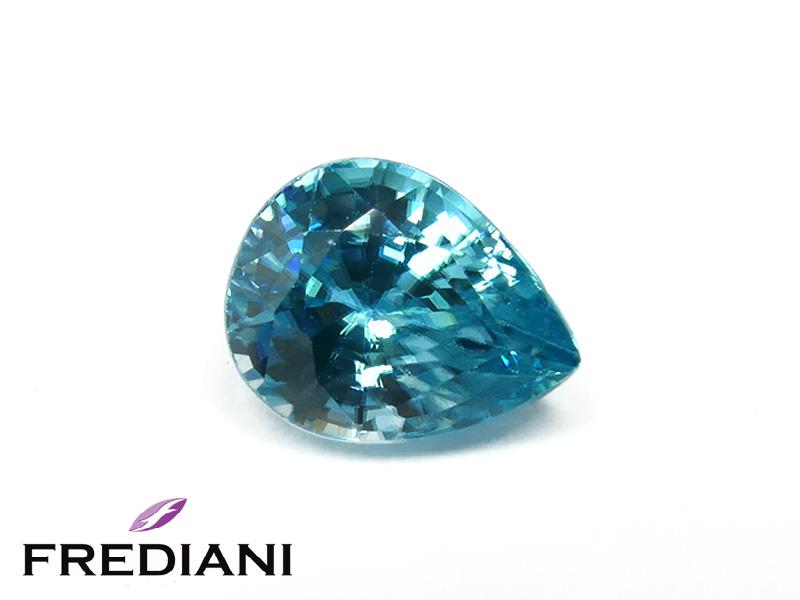 Zircon bleu poire