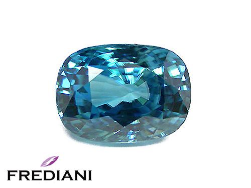 Zircon bleu coussin