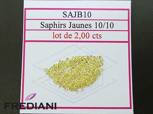 Saphirs jaunes ronds taille brillant