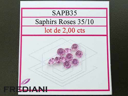 Saphirs roses ronds taille brillant