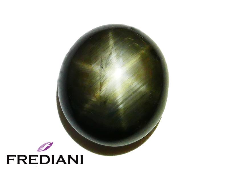 Saphir noir étoilé naturel