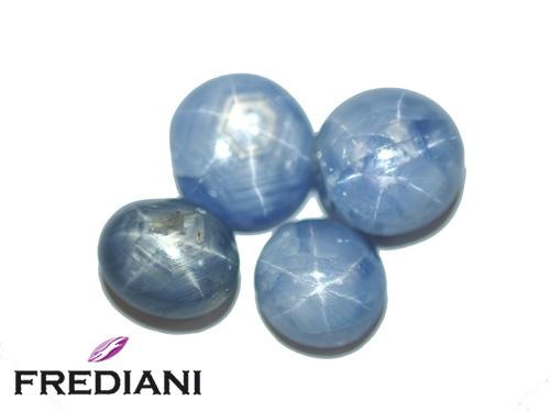Lot de saphirs bleus étoilés naturels