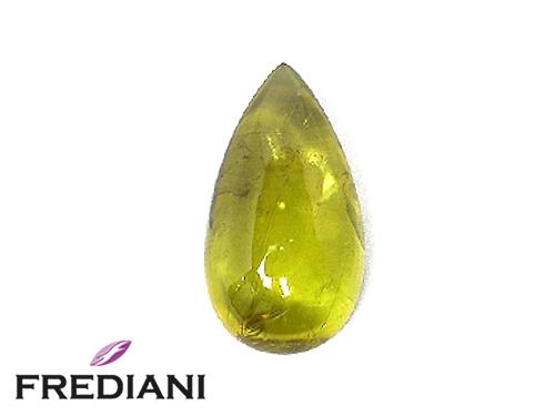 Tourmaline jaune poire cabochon naturelle