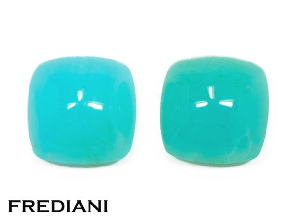 Opales bleues coussins cabochons naturelles