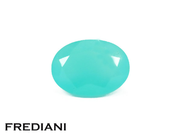 Opale bleue ovale naturelle