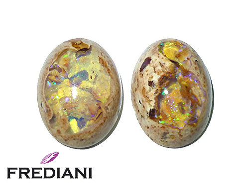 Appairage d'opales matrix naturelles
