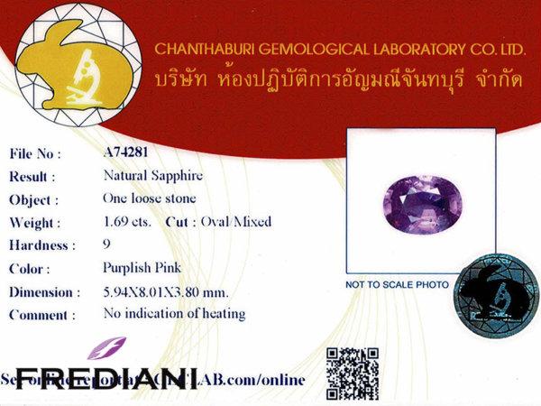 Saphir violet naturel