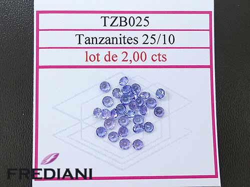 Tanzanites rondes taille brillant