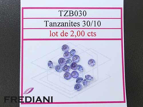 Lot de tanzanites rondes taille brillant