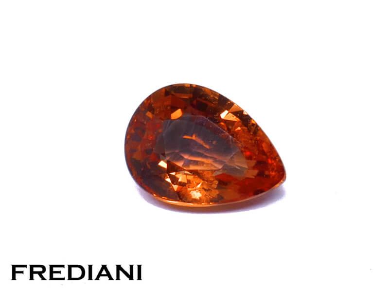 Saphir poire orange