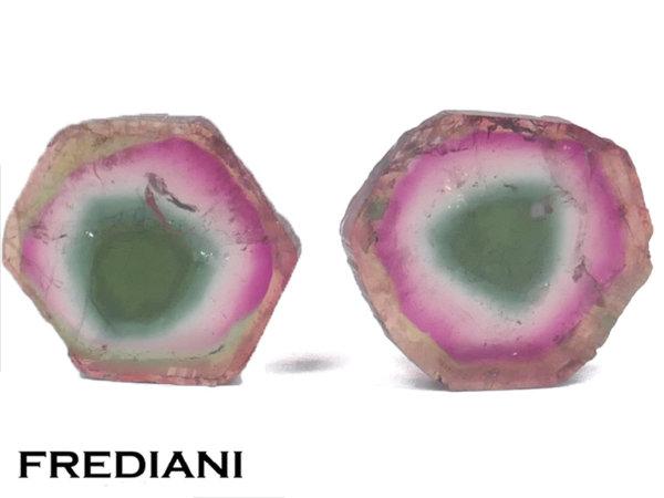 Appairage de cristaux de tourmalines naturels